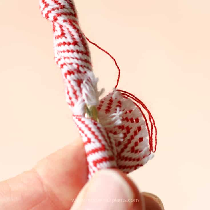secure ribbon with another dab of glue